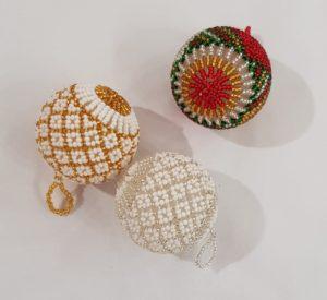 Hand Beaded Christmas Decoration